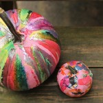Halloween DIY: Drip Paint Pumpkins
