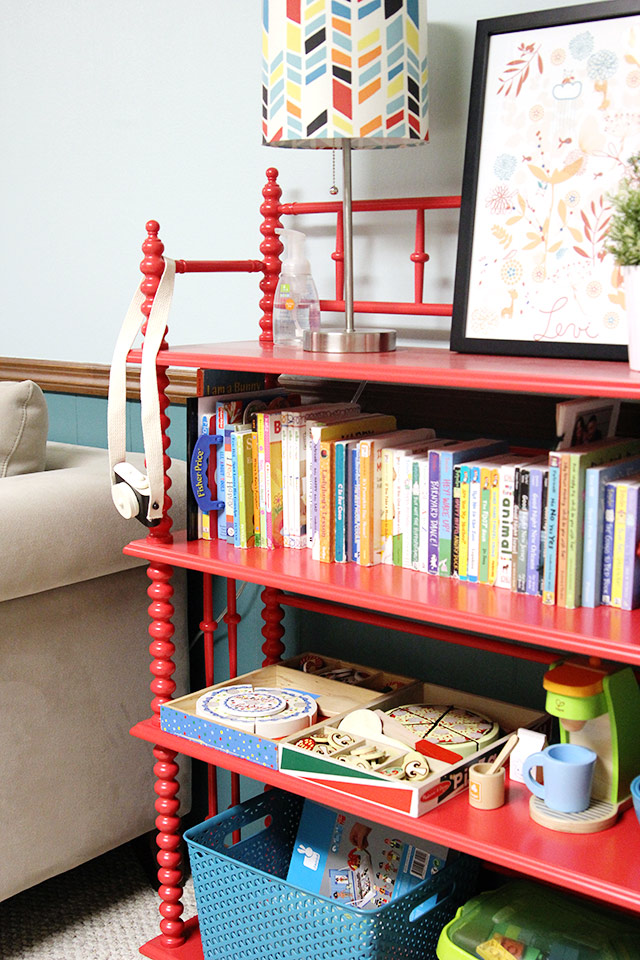 Colorful basement playroom home tour | A Girl Named PJ