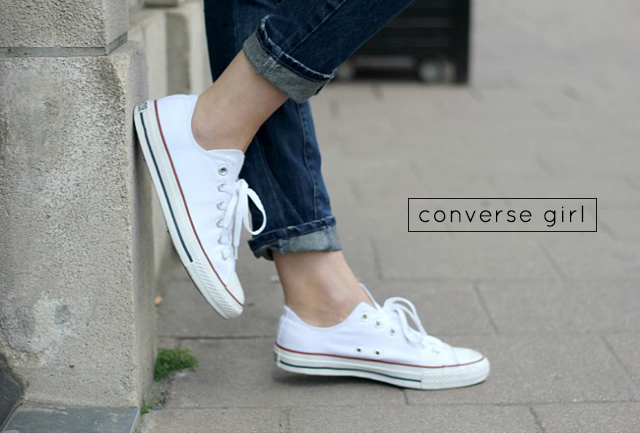 White Converse sneakers for spring - A Girl Named PJ