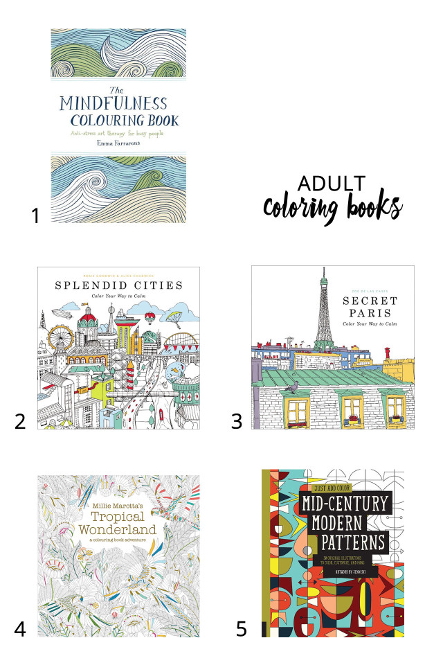 Cool adult coloring books to help you beat stress | A Girl Named PJ