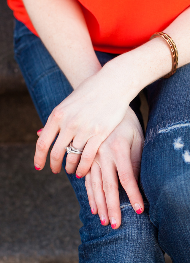DIY color block manicure | A Girl Named PJ