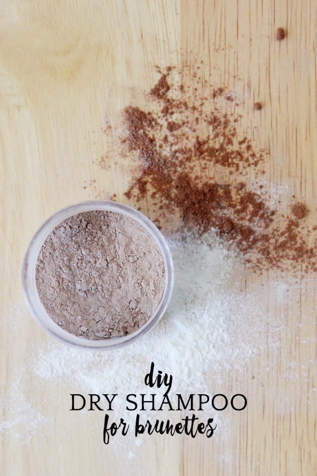 How to make DIY dry shampoo for brown hair | A Girl Named PJ