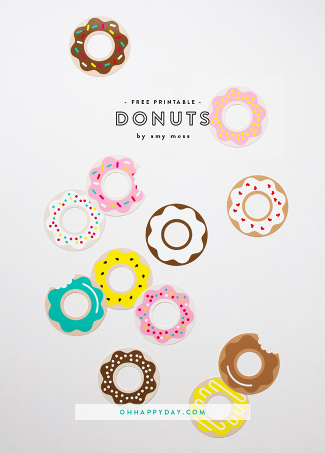 printable donuts