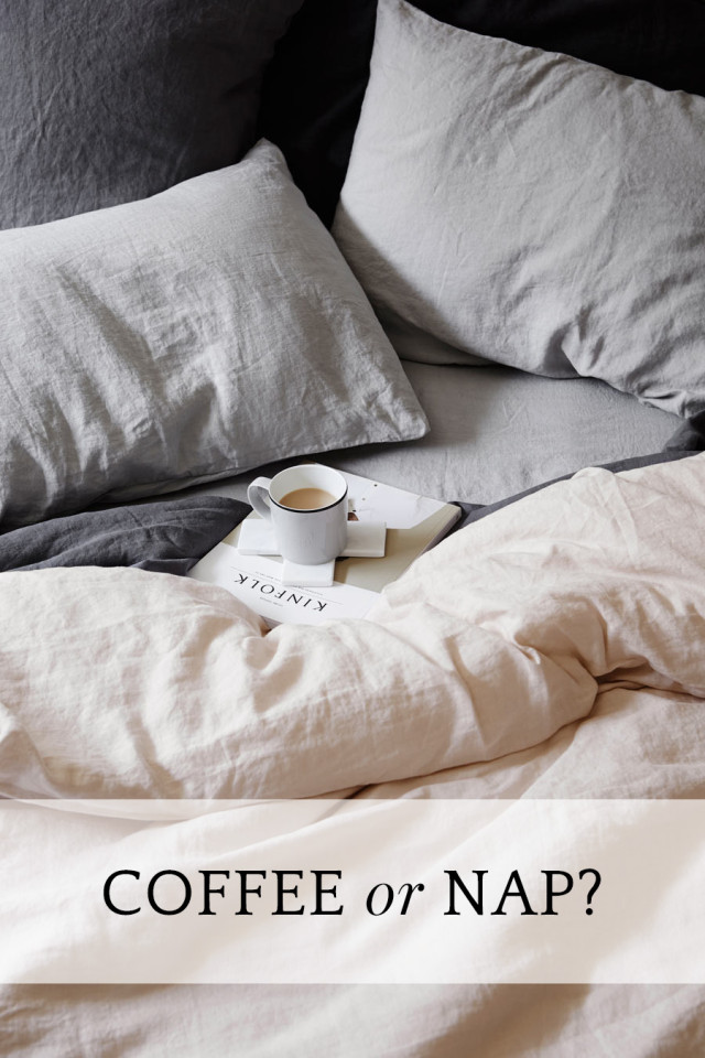 Should you drink coffee or take a nap?