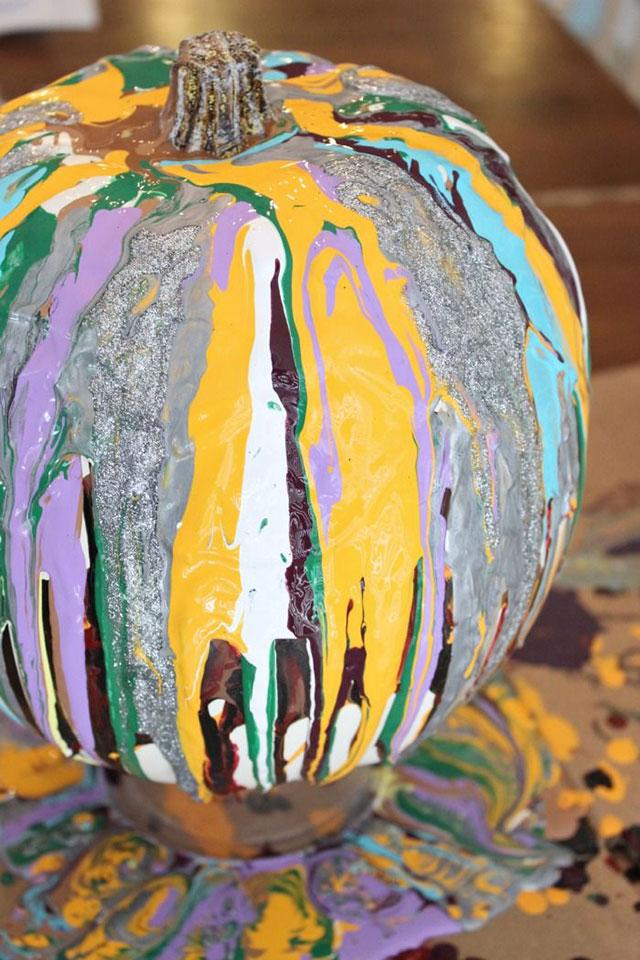 drip paint pumpkin