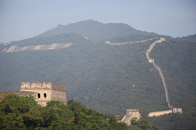 Great Wall of China from Entouriste via bunnyanddolly.com