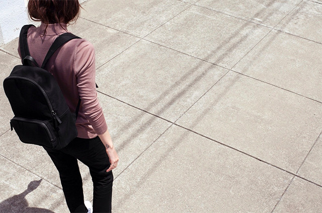 I'm loving simple modern backpacks for women