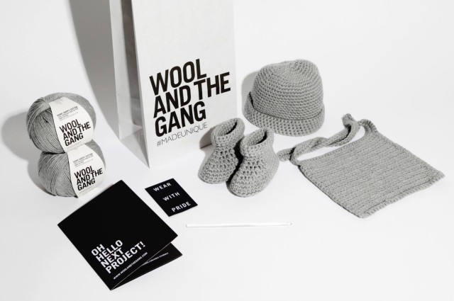 "Every Mother Counts x Wool and the Gang ""Oh Baby"" set -- a great reason to learn how to crochet! 