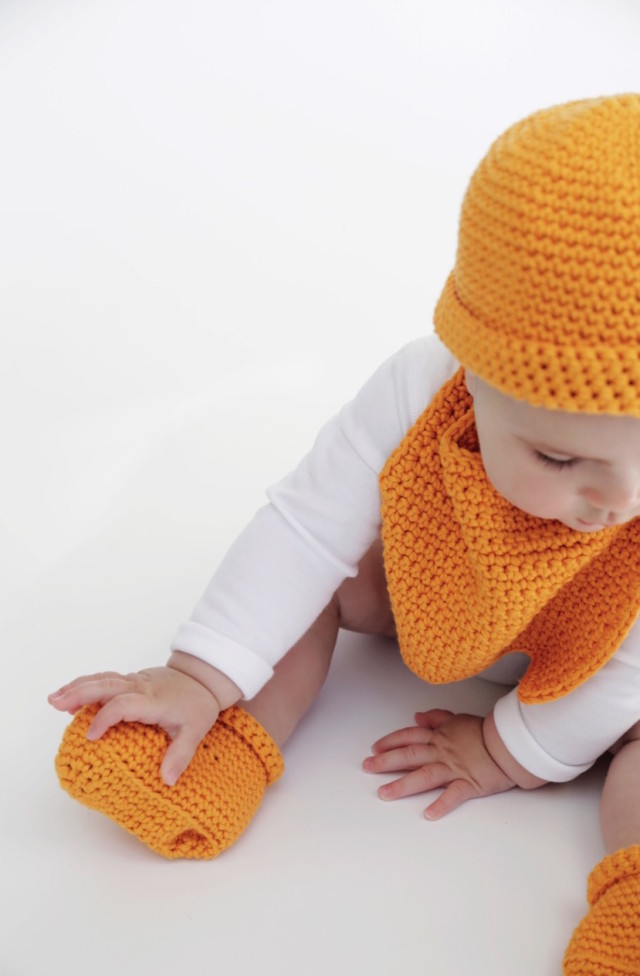 Learn how to crochet a hat, bib, and booties from Wool and the Gang to support Every Mother Counts | A Girl Named PJ