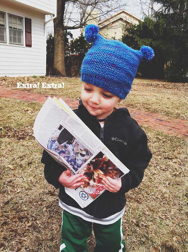 Extra! Extra! Read all about it... bunnyanddolly.com #toddler #newspaper #mail
