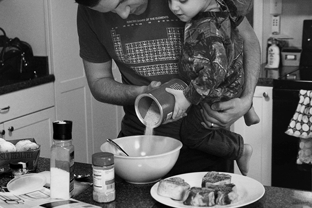father son cooking | kitchen helper on bunnyanddolly.com