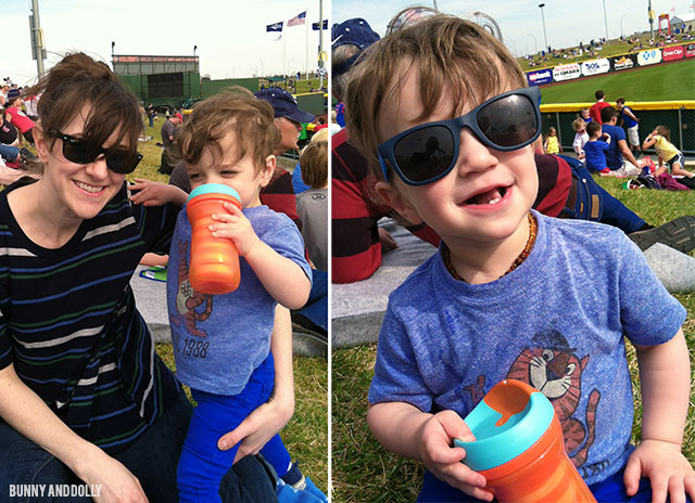 toddler's first minor league baseball game | bunnyanddolly.com