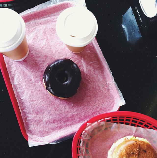 coffee and doughnut on www.bunnyanddolly.com