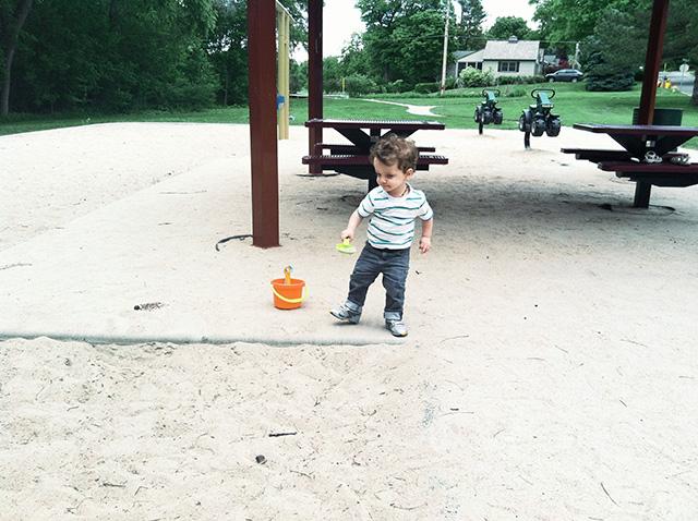 sandbox at playground on www.bunnyanddolly.com