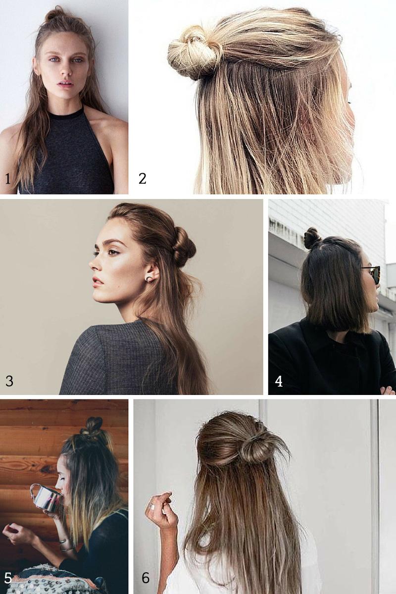 The Half Bun Easiest Hair Trend Of 2015 A Girl Named Pj