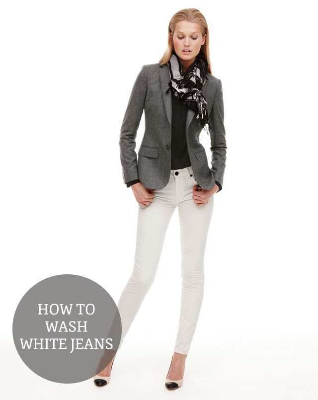how to wash white jeans