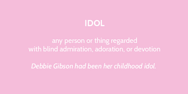 debbie gibson had been her childhood idol - bunnyanddolly.com