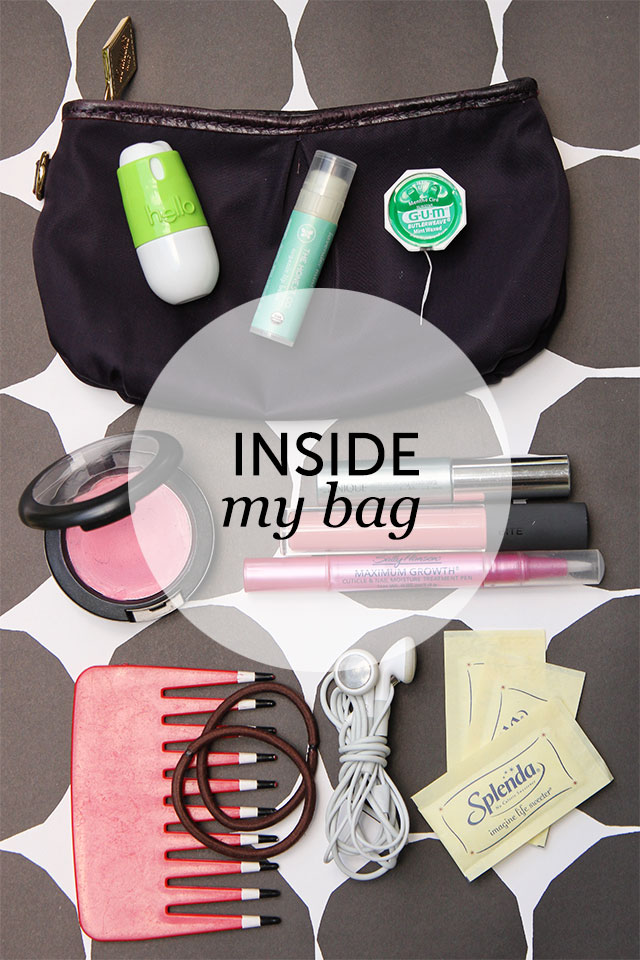 inside my bag - hello oral care