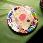 A polka dot birthday cake