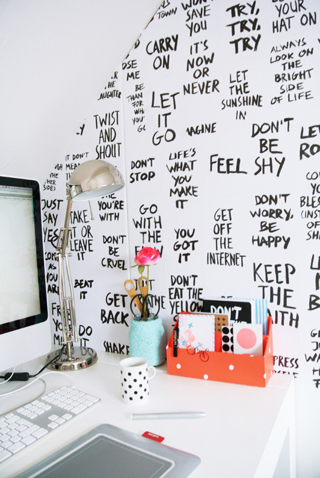 inspirational wall of quotes
