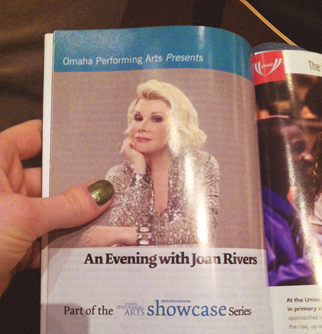 Joan Rivers - Omaha Performing Arts bunnyanddolly.com