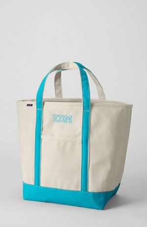 Lands' End Monogrammed Tote Bag