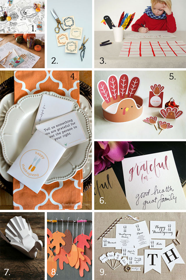 Last minute Thanksgiving decorations and printables | A Girl Named PJ