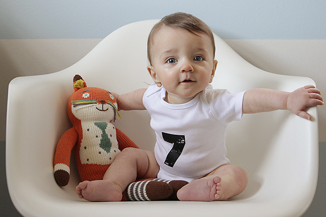 monthly baby photo - seven months old