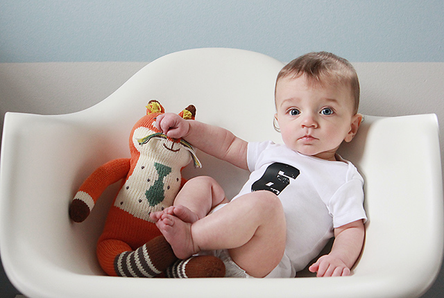 monthly baby photo - six months old