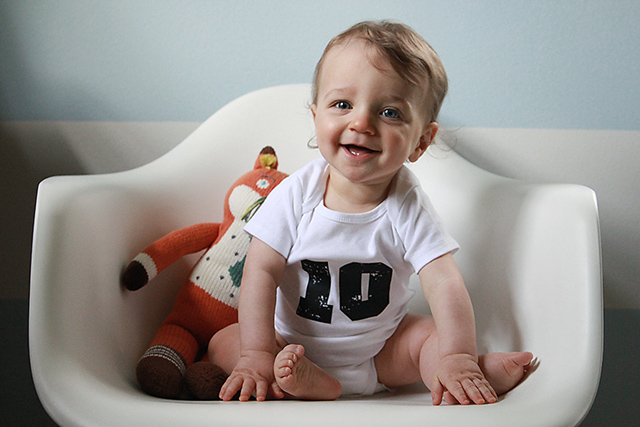 monthly baby photo - ten months old