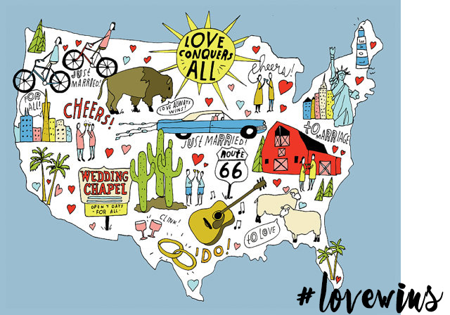#LoveWins: Love Conquers All print by Lisa Congdon