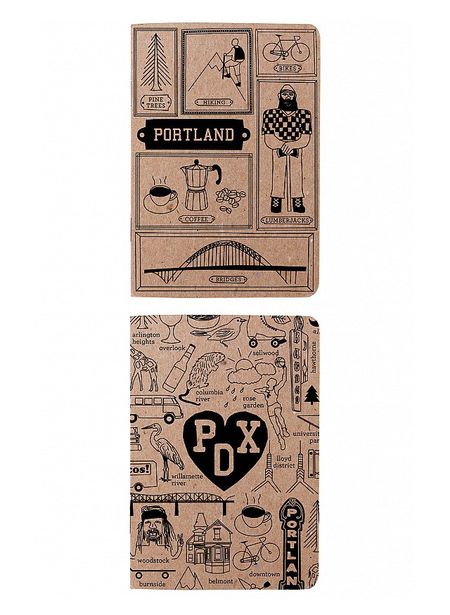 Maptote notebooks for three days in Portland