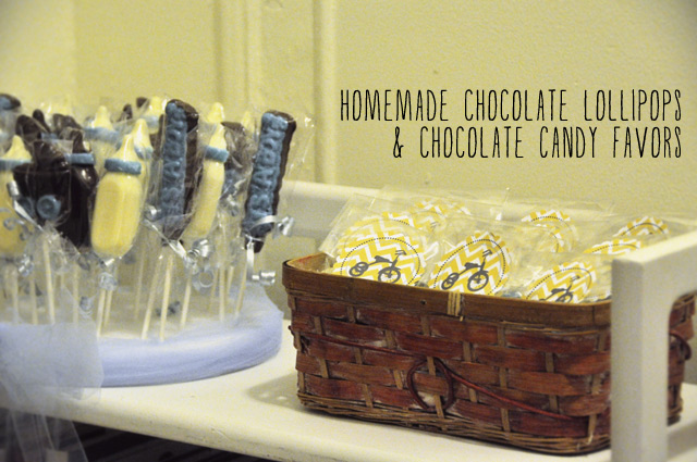 minted baby shower party decor | chocolate baby shower favors www.bunnyanddolly.com