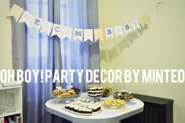 Oh Boy party decor by Minted www.bunnyanddolly.com