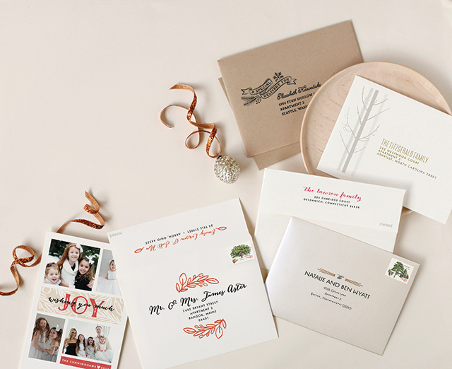 Minted Holiday Cards with recipient addressing | A Girl Named PJ