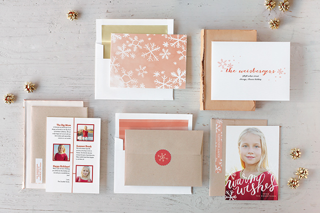 Minted Holiday Cards with Snowflakes | A Girl Named PJ