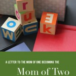 Advice for a new mom of two