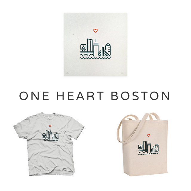 One Heart Boston #bostonmarathon bunnyanddolly.com