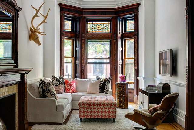 park slope townhouse living room