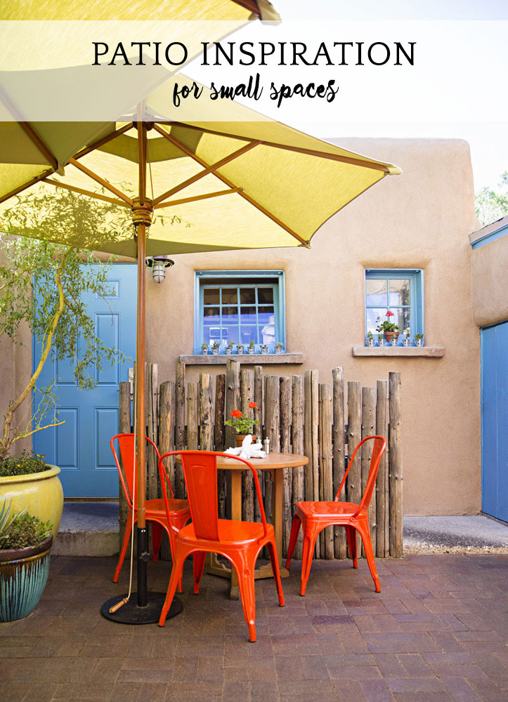 Patio Inspiration for Small Spaces | A Girl Named PJ