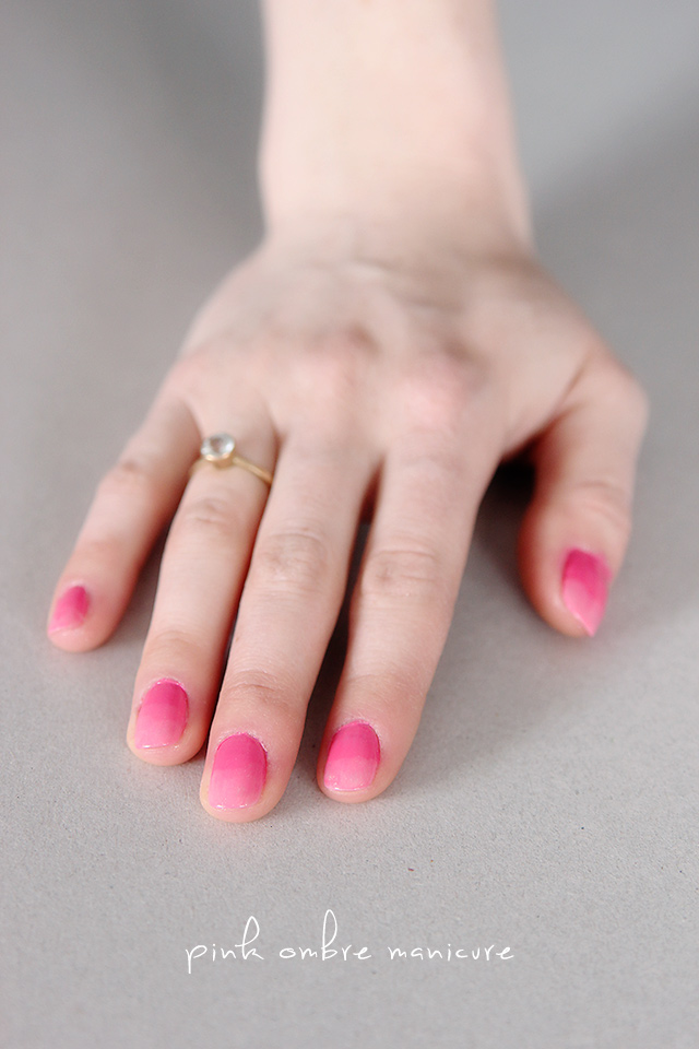 easy pink ombre manicure