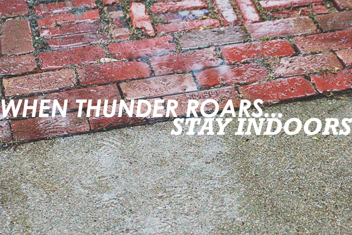 when thunder roars, stay indoors on www.bunnyanddolly.com