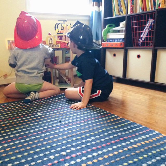 Preschool Pretend Play Fire Fighters | A Girl Named PJ