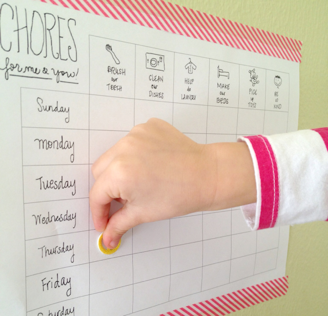 Printable Chore Chart For Kids A Girl Named Pj