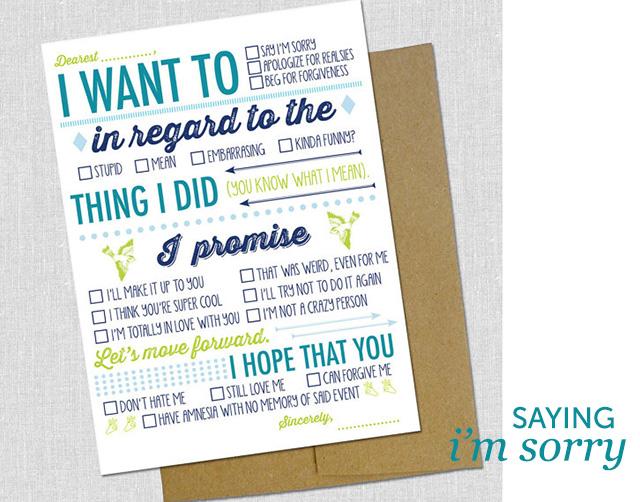 i'm sorry card | bunnyanddolly.com