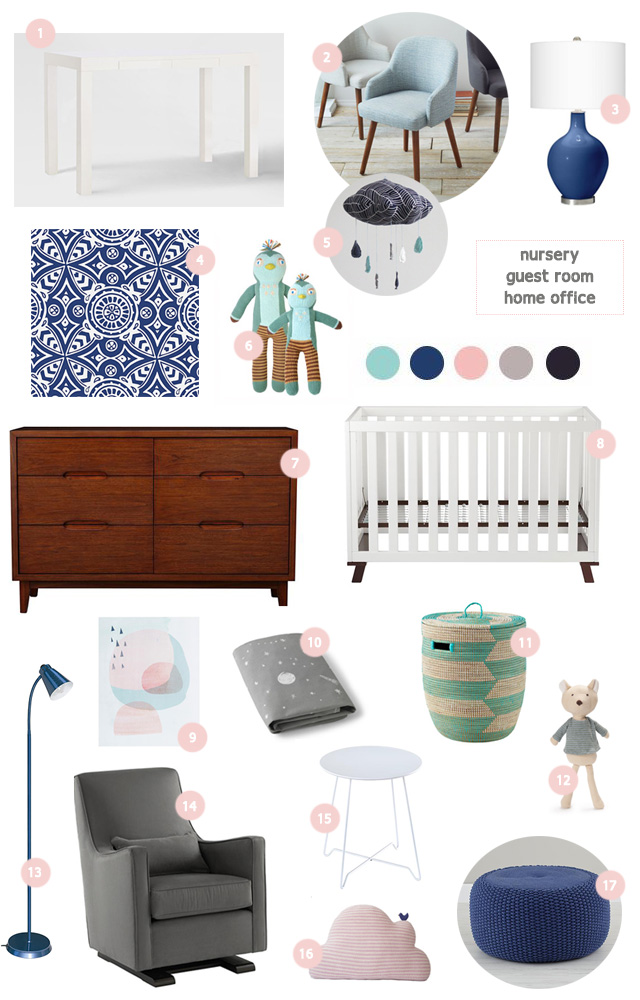 second baby nursery inspiration board