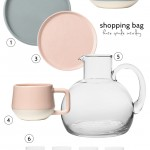 Shopping bag: Minimalist dinnerware