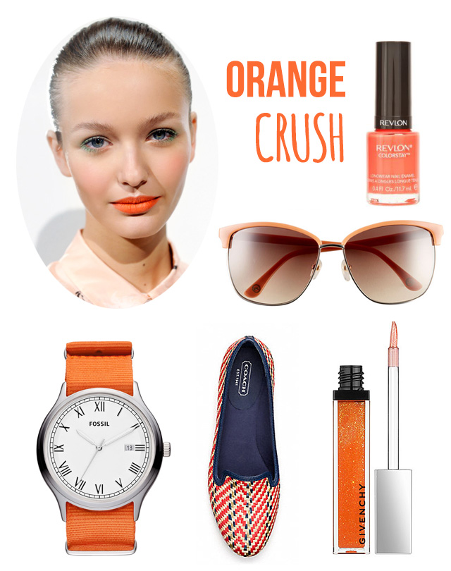 Spring trend: orange crush on bunnyanddolly.com