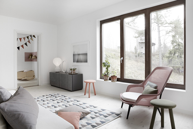 white walls Scandinavian design