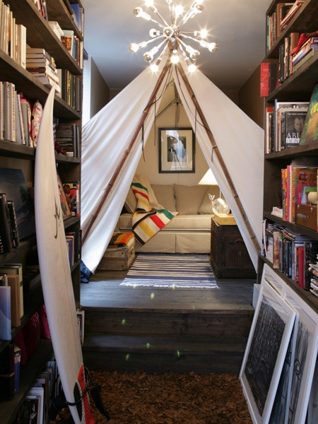 tented reading nook